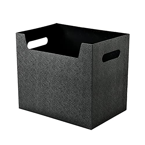 Caja de almacenamiento de escritorio plegable portátil de gran capacidad RINSX con asas laterales, adecuada para oficinas en interiores y almacenamiento de archivos.
