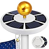 Alftek 42 LED Solar Flag Pole Light wasserdichtes energiesparendes Downlight für Camping im Freien