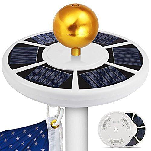Alftek 42 LED Solar Flag Pole Light wasserdichtes energiesparendes Downlight für Camping im Freien (Metallkugeln sind Nicht enthalten)