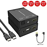 HDMI Audio Extractor, HDMI to Audio Converter with USB 1A Power Out for Amazon...
