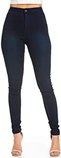 high waisted pull on jeans