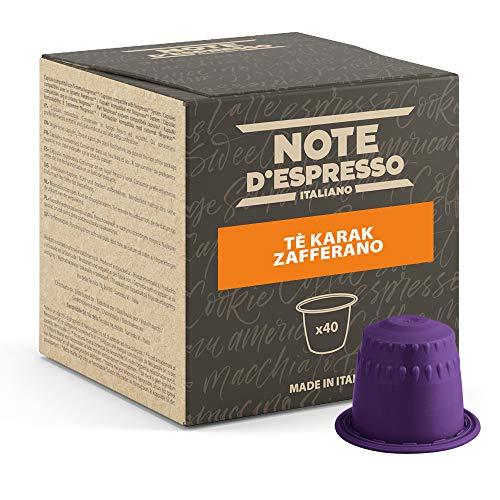 Note D Espresso Tè Chai Karak e Zafferano in Capsule per Macchine Nespresso, Confezione da 40 x 7 g