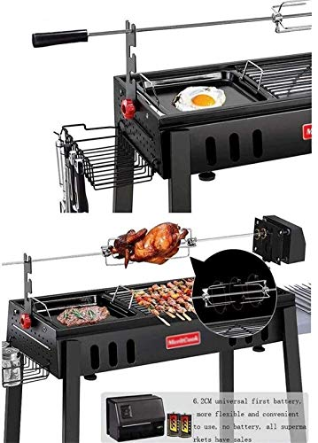 51nwlPSLcGL - JJSFJH Charcoal Grill Premium-Holzkohlegrill aus Gusseisen Grill Große Picknick Patio Grill Barbecue Folding Tragbarer Grill-Holzkohle Full Set 5 Personen Grill Heim Barbecue Folding