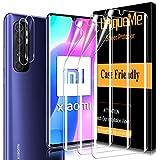 [5 Pack] UniqueMe para Xiaomi Mi Note 10 Lite [3 Pack] Protector de Pantalla y [2 Pack] Protector de lente de cámara, [Cobertura máxima] [Sin Burbujas] TPU Film