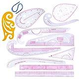 XIGAWAY 12 unids/set regla francesa curva corte reglas Yardstick herramientas de costura medida costura costura costura costura costura costura dibujo