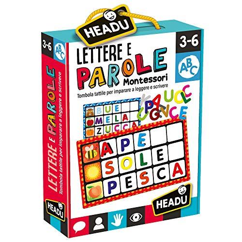 Headu- Lettere e Parole Montessori Gioco, Multicolore, IT20522