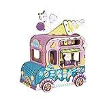 LYLY Caja de música con caja de música para helados y coche, con interior hecho a mano, rompecabezas de madera, caja de regalo de cumpleaños para niños y amigos