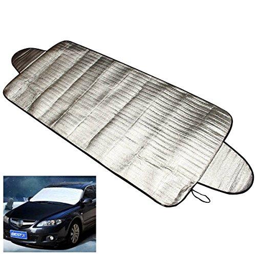 Audew Frontscheibenabdeckung, 150x 70cm, Auto-Schutzabdeckung für die Windschutzscheibe, zum Schutz vor Eis / Staub / Reif, Wärmeschutz