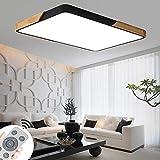 BRIFO 72W Lámpara De Techo LED De Madera Regulable,Lámpara De Techo Para Salón,Sala De Estar,...