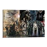 EDYHG Póster decorativo de Rogue One A Star Wars Story de lienzo para pared, para sala de estar, dormitorio, 50 x 75 cm