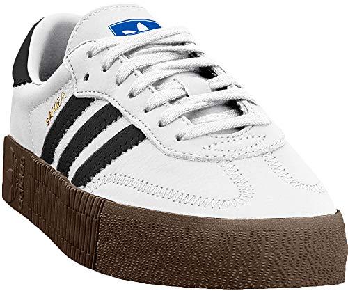 Adidas Sambarose, Zapatillas Clasicas para Mujer, Blanco (Cloud White/Core Black/Gum5), 38 EU
