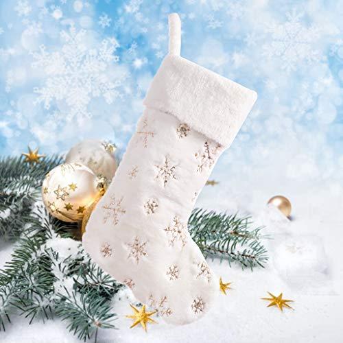 carol -1 Weihnachtsstrumpf - Plüsch Nikolausstrumpf Nikolausstiefel für Ideale Weihnachtsdekoration Geschenkbeutel Weihnachtsbaum Weihnachtsstrumpf Deko Kamin Christmas Stocking