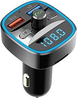 comprar comparacion 【Nuevo Versión】 Transmisor FM Bluetooth, HOLALEI Qc3.0 Manos Libres para Coche, Inalámbrico Reproductor MP3 Mechero Coche ...