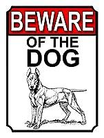 犬に注意ティンサインの装飾ヴィンテージの壁金属プラークレトロな鉄の絵カフェバー映画のギフト結婚式誕生日警告