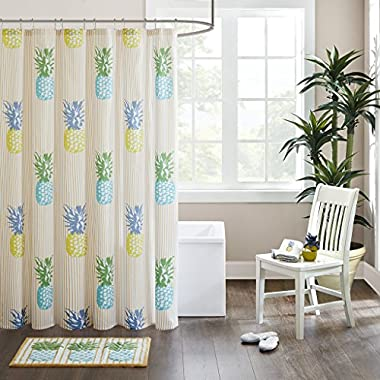 HipStyle Kona Cotton Printed Shower Curtain Yellow 72x72