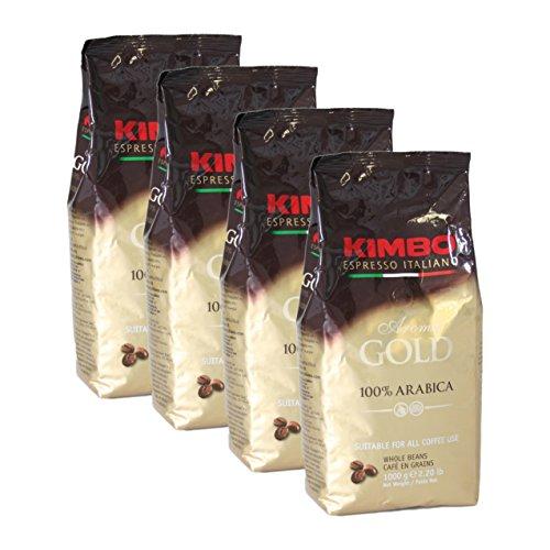 KIMBO Aroma Gold 100% Arabica, 1000g 4er Pack