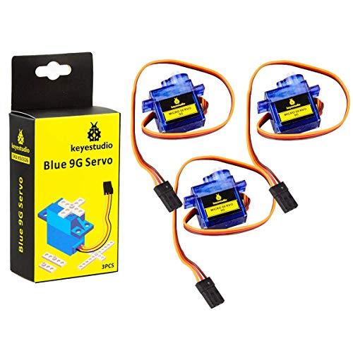 KEYESTUDIO 3 x SG90 Micro Servo Motor 9G Starter Kit für Arduino MEGA2560 R3 Nano un RC Roboter Hubchrauber Flugzeug