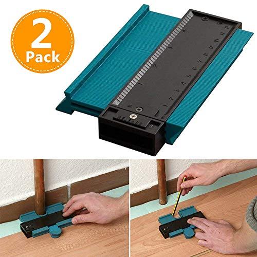 Duplicador de medidor de contorno, forma de plástico verde portátil de 5 pulgadas y herramienta de medición de perfil de corte fácil
