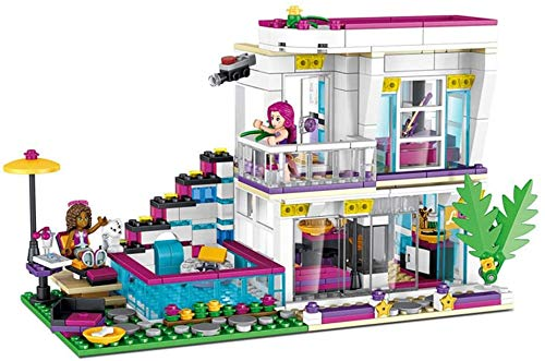 ZXF5 Doll Star House Architect Model Kit Building Block Toy Boys and Girls Children Model Toys