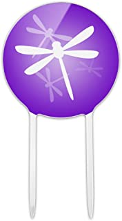 GRAPHICS & MORE Acrylic Purple Dragonfly Dragonflies Cake Topper Party Decoration for Wedding Anniversary Birthday Graduation
