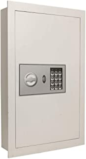 Flat Recessed Digital Built-In Wall Safe Fire-resistant | Cash Jewelry Document Money Gun Secure Lock Box Home Office