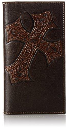 Nocona Belt Co. Men's Nocona Diagnol Cross Embose Rodeo, Brown, One Size