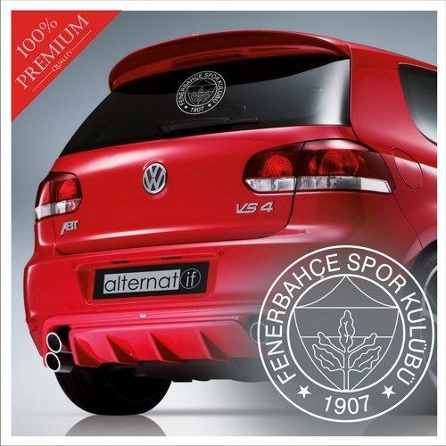 Alternatif Autoaufkleber Fenerbahce Logo Aziz Yildirim Kanarya Istanbul Türkei Türkiye Wandtattoo (Weiss, S / 15 cm X 15 cm)