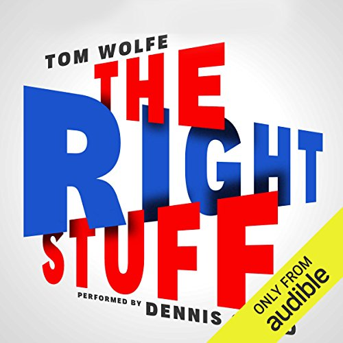 The Right Stuff audiobook cover art