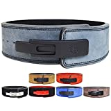 AALYANZ Lever Belt Made of Cow Leather 13MM Belt for Men & Women Lower Back Support for Weightlifting (Grey, Large)