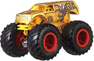 Hot Wheels Monster Trucks 4-Wheel Hive SUV - Connect and Crash Car Included 41/50 1:64 - Gold Sport Utility Vehicle with Giant Wheels