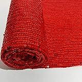 Tessuto con paillettes al metro Tessuto con paillettes rosso Tessuto con paillettes in rete Tessuto con sirenetta per cucire Abito da sposa dritto Tessuto glitterato a righe