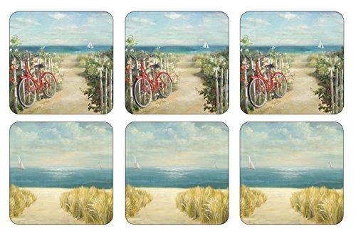 Pimpernel 10,5 cm x 10,5 cm-M Ride Summer-Dessous-de-Verre-Set de 6 Couleur