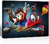 SSKJTC Póster de Mario Bros Juegos Arte Decoraciones Modernas Enmarcadas 30,5 x 20,3 cm