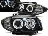Paire de feux phares B- Serie 1 E87/E81 04-11 angel eyes noir
