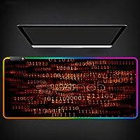 ゲーミングマウスパッド赤い線RGBマウスパッドスピードキーボードデスクマットXXLゲーマーコンピューターグローイングUSBLedマウスパッド 800X400MM