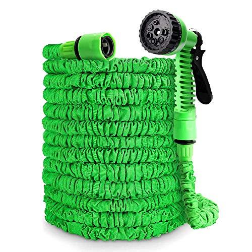 Ohuhu Flexibler Gartenschlauch, 30m/100ft Ausziehbarer Schlauch mit 8-Phasen-Düse, Flexibler Gartenschlauch ausgedehnt, Wasserschlauch Flexibel, Bewässerung Gartenarbeit
