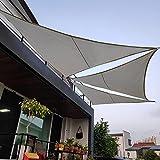 Velas De Sombra para Patio, Toldo Vela De Sombra Triángulo Tejido Impermeable De Poliéster Duradero con 3 Cuerdas Fijas Marquesina para Sombra Exteriores Jardín, CAM grey-3x3x3m