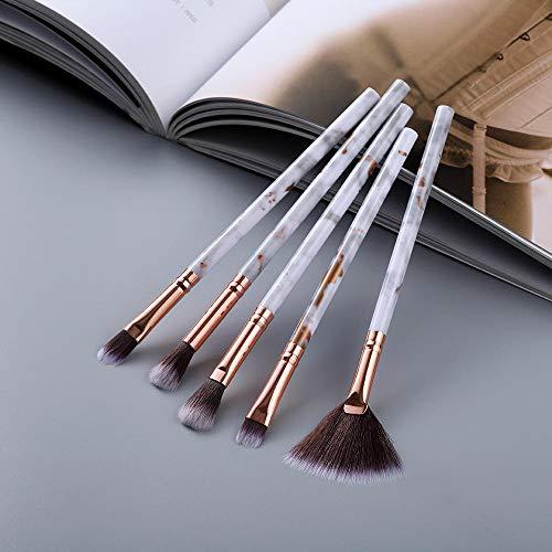 15pcs pinceaux de maquillage ensemble d'outils poudre cosmétique ombre à paupières fondation fard à joues mélange beauté maquillage pinceau-Oeil 5pcs or
