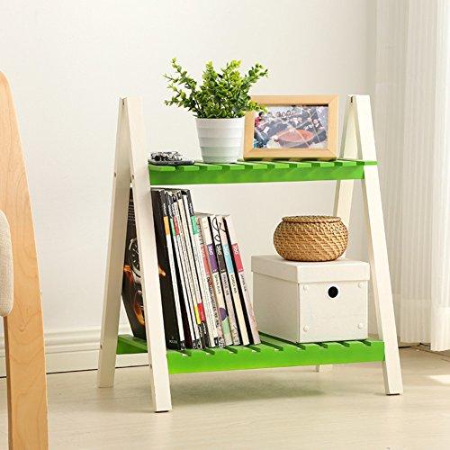 Stand de fleur en bois massif présentoir étagère fleur étagère plante-Balcon intérieur pliable étage-A
