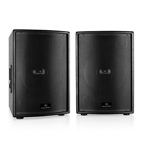Auna PW-15P-M Konzert-Lautsprecher Bühnenboxen Paar (2x 1000W RMS, 2x 38cm Subwoofer, Flanschöffnung) passiv
