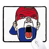DIYthinker Bandera de Paraguay Máscara facial maquillaje Cap antideslizante Mousepad Oficina Juego Negro Titched Bordes regalo