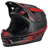iXS Full Face Helm XACT Downhill Mountain Bike DH MTB BMX Enduro FR Fahrrad, 470-510-6520, Farbe Black Fluo Red - Schwarz Rot, Größe XS
