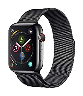 Apple Watch Series 4 (GPS + Cellulare) Cassa 44 mm in Acciaio Inossidabile Nero Siderale e Loop in Maglia Milanese Nero Siderale (B07K1X3JSJ) | Amazon price tracker / tracking, Amazon price history charts, Amazon price watches, Amazon price drop alerts