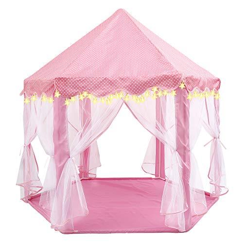 Tienda de Princesa con Luz Estrella Pequeña para Niñas Pop Up Carpa...
