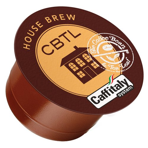 The Coffee Bean & Tea Leaf, Single Origin House Brew Coffee Capsules for Caffitaly Brewers, 16-Count Pods
