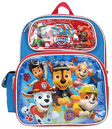 Paw Patrol Chase Marshall Rubble Rocky Skye 12 inches Toddler Backpack