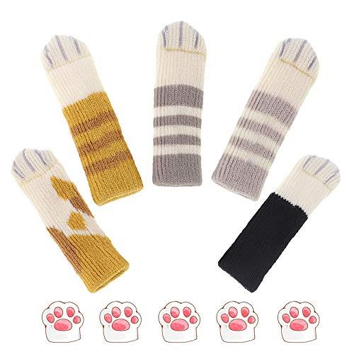 Bestgle - Lote de 5 fundas de calcetines para patas de punto