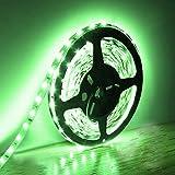 EKSAVE Tira de luces LED de 5 m, 300 unidades SMD 5630, 12 V, de bajo voltaje, no impermeable, IP20, banda verde, iluminación para armarios de cocina principales y más