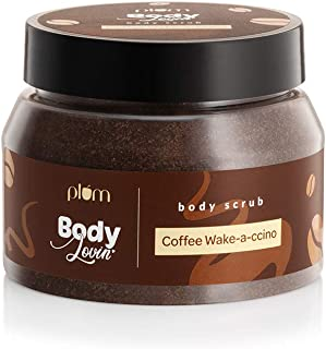 Plum BodyLovin' Coffee Wake-a-ccino Body Scrub | Skin Brightening | Tan Removal | Sulphate & Paraben Free | 100% Vegan | 1...