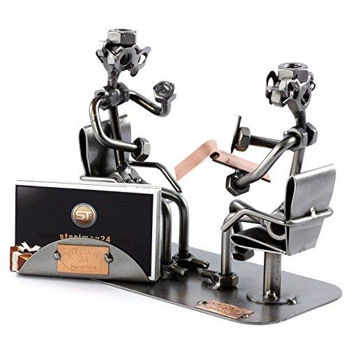 Steelman24 I Psiquiatra con Portatarjetas De Visita con Grabado Personal I Made in Germany I Idea para Regalo